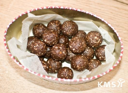 Chokoladekugler med mynte
