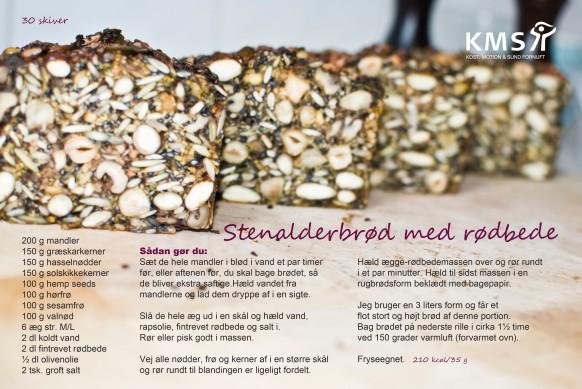 Stenalderbrød med rødbede af Lise Brinkman Madsen